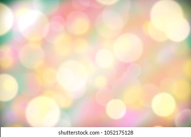 Bokeh blurry texture backgroud in pastel color