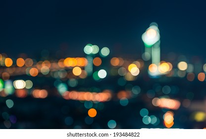 Bokeh building in Thailand