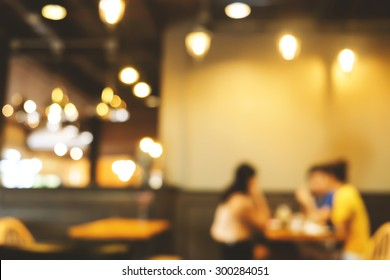 Bokeh in cafe , Coffee Shop Blurred background
