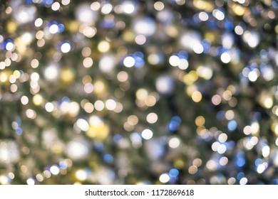 Bokeh from a Christmas tree, glitter Christmas festive for backg
