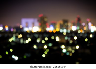 Bokeh City Lights At Night