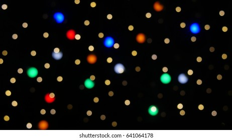 Bokeh colored lights close-up far 2
