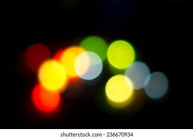 bokeh colorful