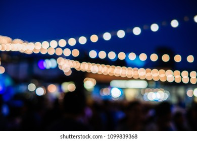 Bokeh festoon light burled background