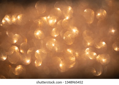 bokeh gold defocused, abstract background