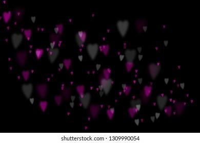 Bokeh hearts overlay, hearts overlay, photo overlay, blurred hearts background, Valentine's Day background, love photo overlay, hearts bokeh