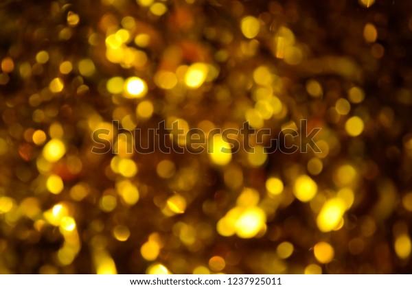 Bokeh Holiday Background Christmas Lights Glitter Stock