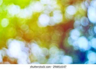 Bokeh leaf with sunlight, use for background