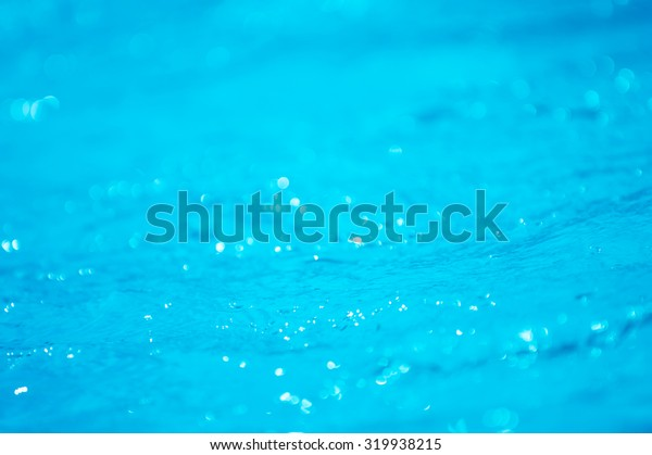 Bokeh light background in the pool.