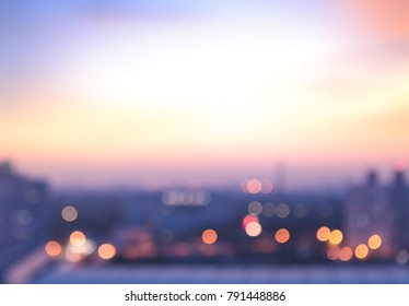 Bokeh light and blurred city background