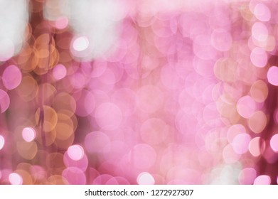 Bokeh of Light bulb. -vintage style picture and vintage color
