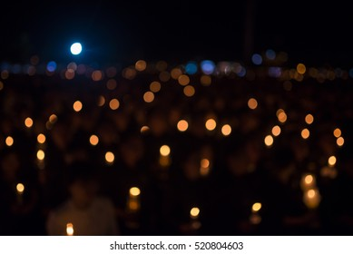 Bokeh of light candle