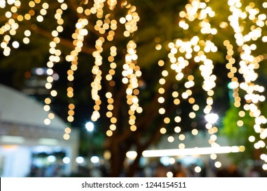Bokeh light in the night background with space