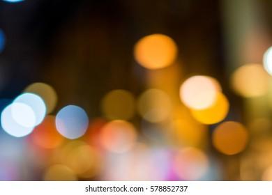 Bokeh light on background