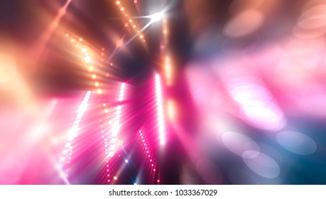 Bokeh light, shimmering blur spot lights on pink abstract background. illustration digital.