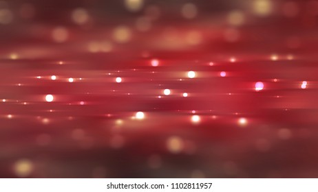 Bokeh light, shimmering blur spot lights on red. illustration digital.