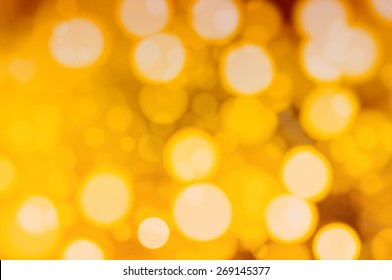 Bokeh light, shimmering blur spot lights on vintage abstract background.