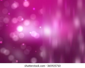 Bokeh light, shimmering blur spot lights on pink abstract background.