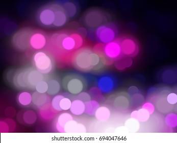 Bokeh light, shimmering blur spot lights on pink. illustration digital.