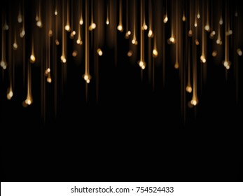 Bokeh lightbulb decoration, party or festive decorative elements isolated on black background - Shutterstock ID 754524433