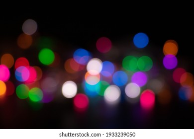 Bokeh lighting in dark background