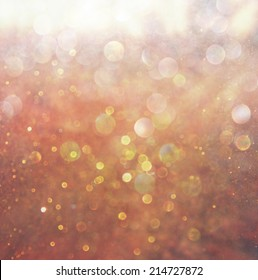 bokeh lights background with mixed brown and yellow warm earthly colors