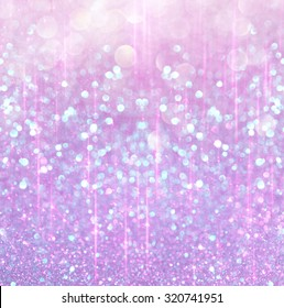 bokeh lights background with multi layers and colors of white silver, pink and blue