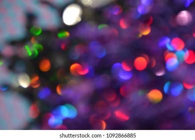 bokeh lights mainly purple