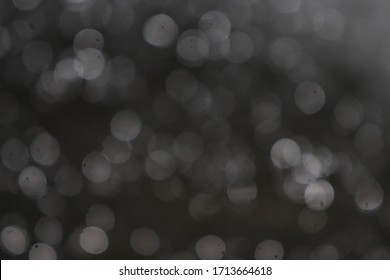 Bokeh of lights on black background