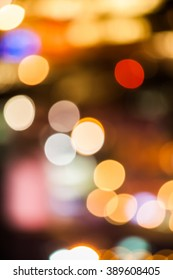 Bokeh lights of the streets in Malaysia