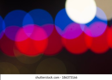 Bokeh of lights texture background at night