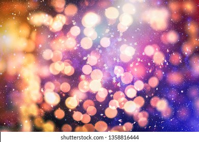 Bokeh with multi colors, Festive lights bokeh background, Bokeh light vintage background, Abstract colorful defocused dot, Soft focus