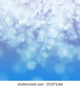Bokeh on blue and purple background