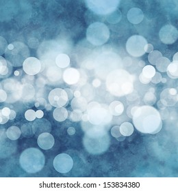 Bokeh on grungy blue background