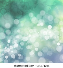 Bokeh on grungy green and blue background
