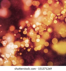 Bokeh on grungy red and orange background