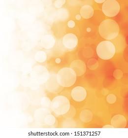 Bokeh on orange background