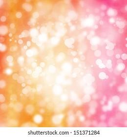 Bokeh on orange and pink background