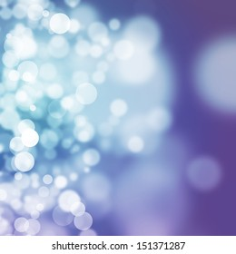 Bokeh on purple and blue background