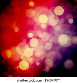 Bokeh on rough red and purple background