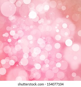 Bokeh on soft pink background