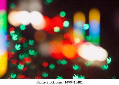 Bokeh, red backlight, on a black background