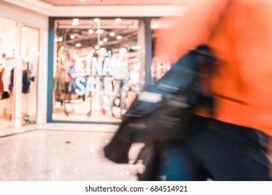 Bokeh Shopping mall background