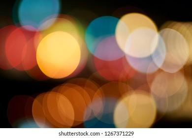 Bokeh of street light.