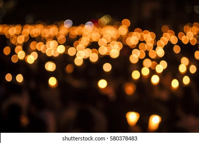 Bokeh from thousands of candles at a candlelight vigil for the victims of the Tianmen Square Massacre