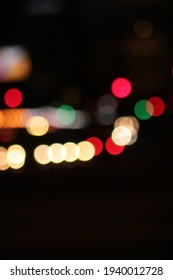 Bokeh of traffic lights and vehicles