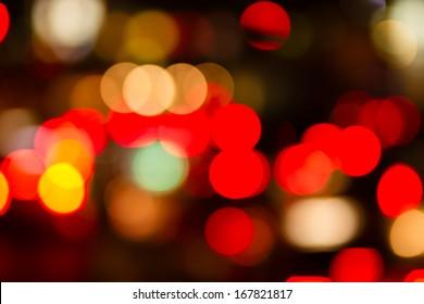 bokeh of traffic night