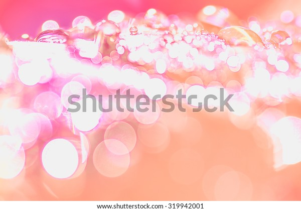 Bokeh of water drop on abstract light background.