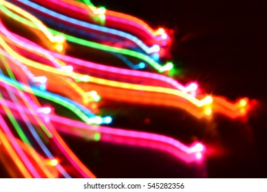 bokeh wave line colorful background