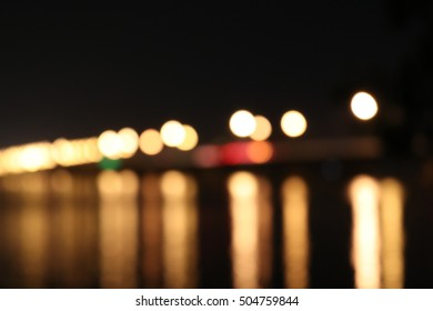 bokeh,light on the bridge